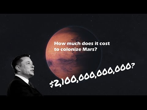 How much does it cost to Colonize Mars? $2,100,000,000,000? (видео)