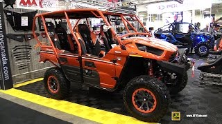 8. 2015 Kawasaki Teryx4 800LE Exterior,Interior Walkaorund Accessorised by UTV Canada