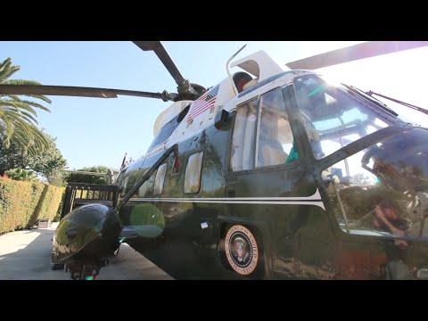 Infamous President Richard Nixon Helicopter & Grave