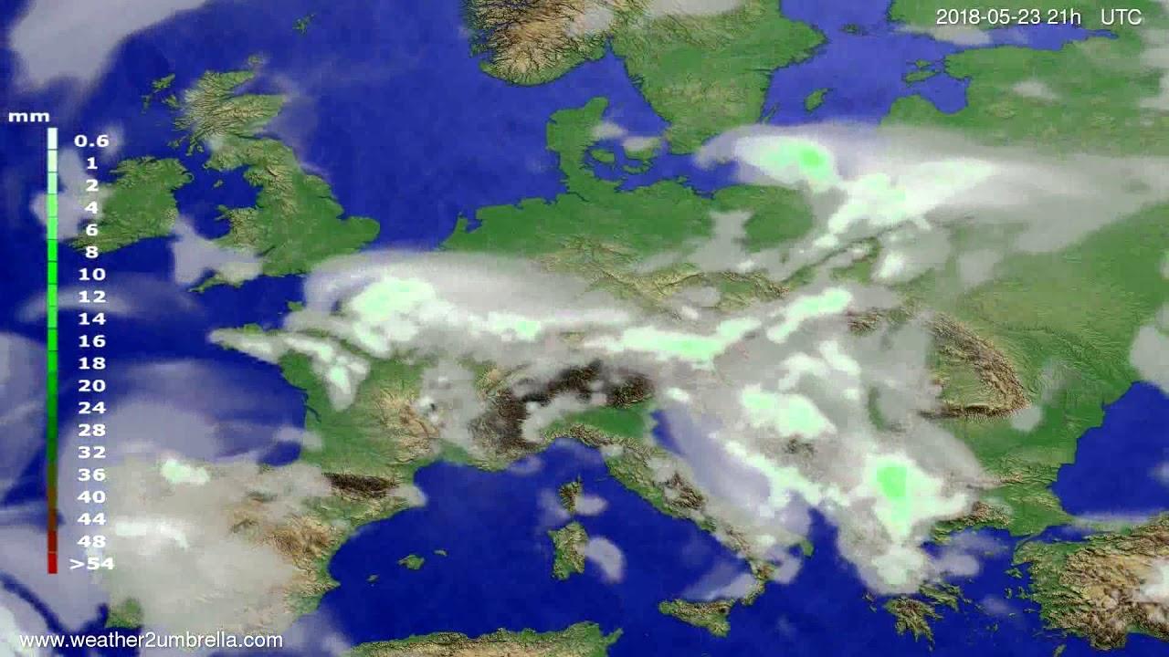 Precipitation forecast Europe 2018-05-20