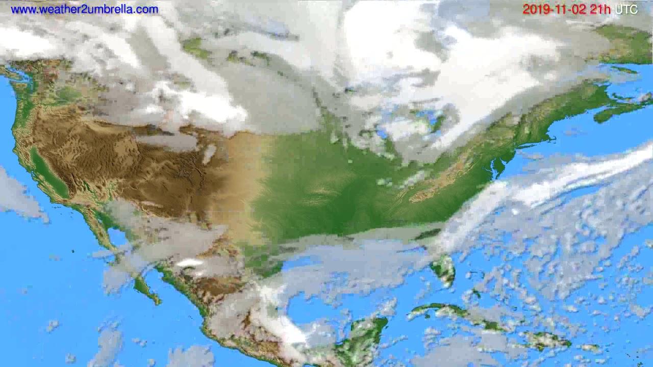 Cloud forecast USA & Canada // modelrun: 12h UTC 2019-11-01