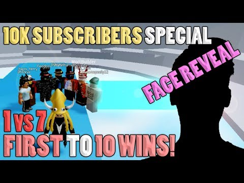FACE REVEAL!! Youtuber Vs 7 Pros [10K SUBSCRIBERS SPECIAL] | Tower Of Hell ROBLOX
