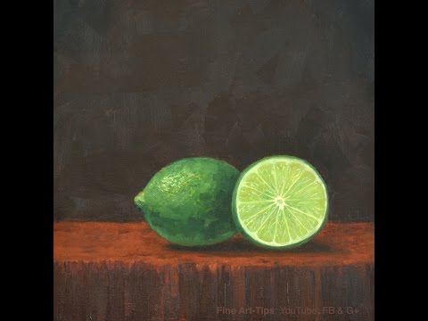 How To Paint Limes - Fruit - Lemon