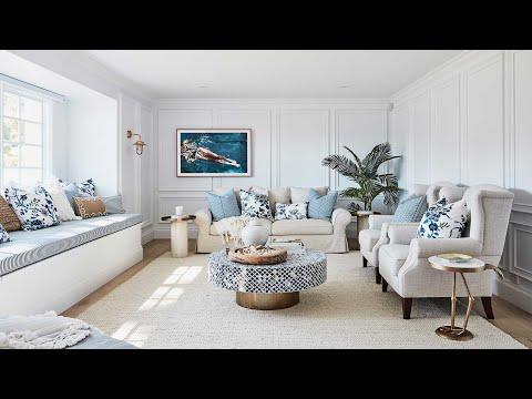 Lounge, Ldry/Powder + Multi-Use Room Reveal, Episode 4   Colour Me Hamptons Renovation   House 11