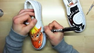 How I Draw Naruto Custom Painted Shoes | Simone Manenti - YouTube