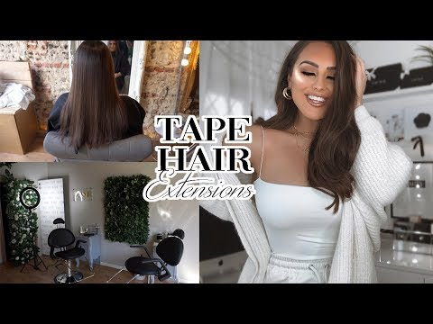 Hair salon - COME TO THE SALON WITH ME  TAPE HAIR EXTENSIONS 2019