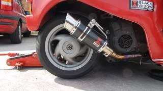 10. BLACK WIDOW EXHAUST LEADER ENGINE PIAGGIO VESPA ZIP SKIPPER LIBERTY SPORT 125 CC