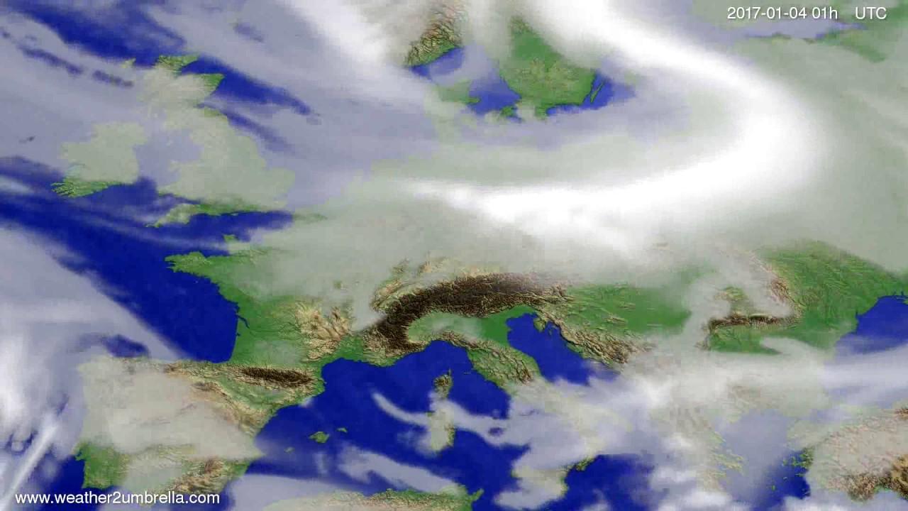 Cloud forecast Europe 2016-12-31