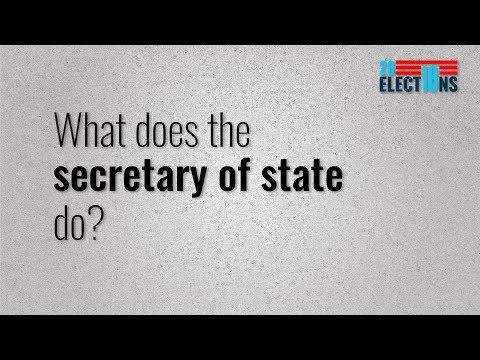 Elections Explained: What does the secretary of state do?