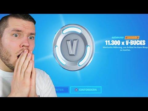 ich habe über 10.000 V-Bucks von Fortnite GESCHENKT bekommen!