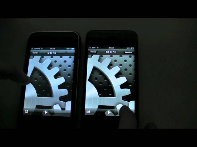 iPhone 3Gs iOS 5 vs iPhone 4 iOS 5
