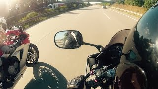 7. Yamaha R6 vs MV Agusta Acceleration & Top Speed [1080p]