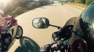 10. Yamaha R6 vs MV Agusta Acceleration & Top Speed [1080p]