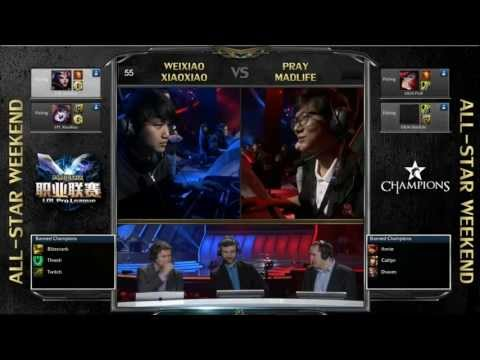 全明星賽2v2  (微笑 笑笑) vs (Pray, Madlife)