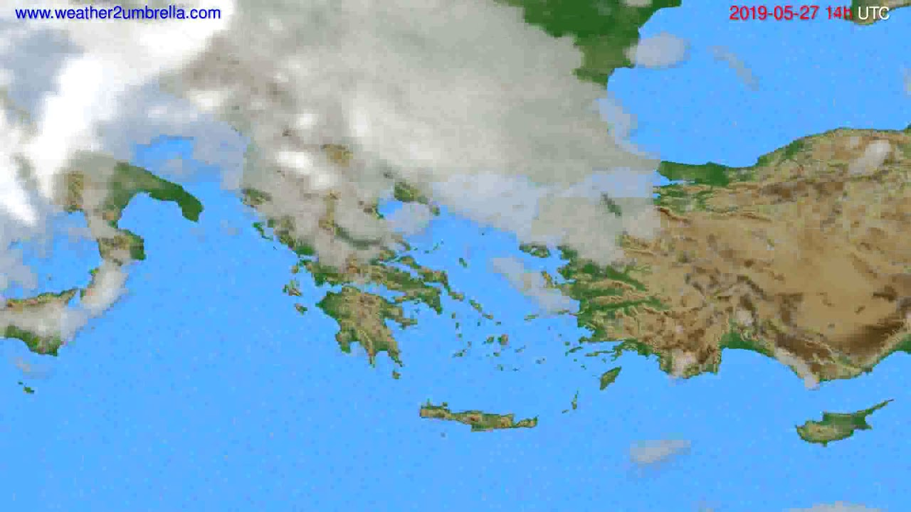 Cloud forecast Greece // modelrun: 00h UTC 2019-05-25
