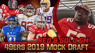 Live! 49ers Mock Draft 2019 - Ronbo Sports Red & Gold GM EP 10