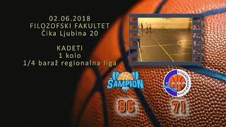 kk šampion2 kk sava2 86 71 (kadeti 2, 02 06 2018 ) košarkaški klub sava