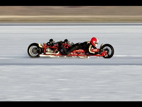 2000cc Ducati ATTEMPTS 200 Mph At Bonneville Salt Flats!!!