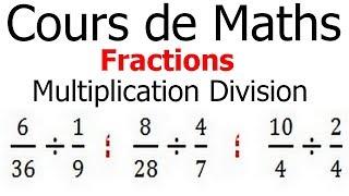 Maths 6ème - Fractions multiplication et division Exercice 2