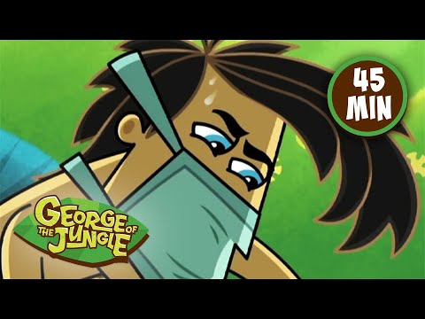 Muscle Mania | George Of The Jungle | Full Episode | Funny Cartoons For Kids | Kids Movies