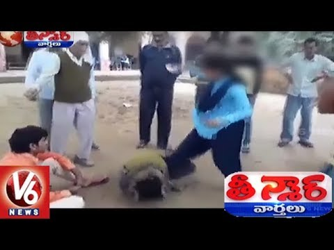 Video Brave School Girl Thrashes Eve Teaser In Public | Teenmaar News | V6 News download in MP3, 3GP, MP4, WEBM, AVI, FLV January 2017