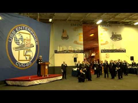 Ordine Constantiniano 2013 – SAR il Duca di Castro visita la USS Enterprise a Napoli