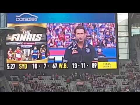 Luke Beveridge Hands Bob Murphy His Grand Final Medal. & Presentation Of The Cup 1 October 2016(2)