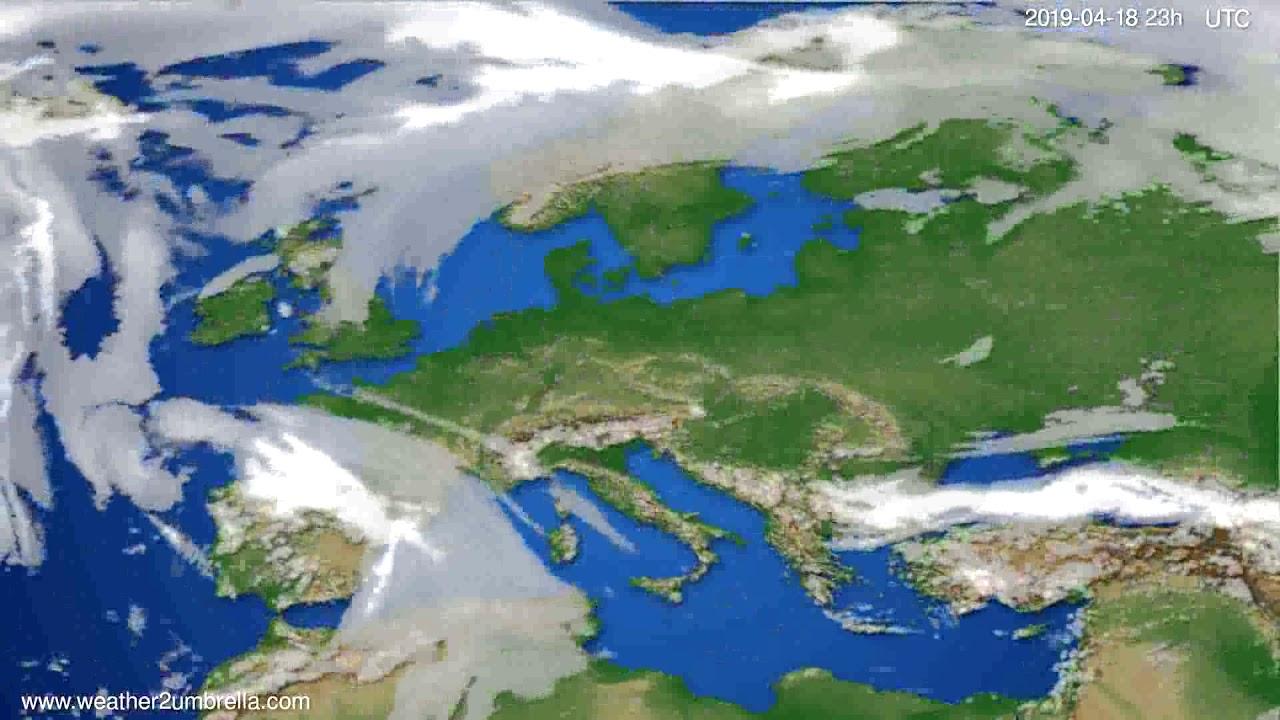 Cloud forecast Europe // modelrun: 12h UTC 2019-04-15