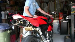 8. Two Brothers exhaust on 2004 CBR1000rr