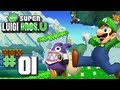 New Super Luigi U - World 1 - Acorn Plains 100% (2 Players)