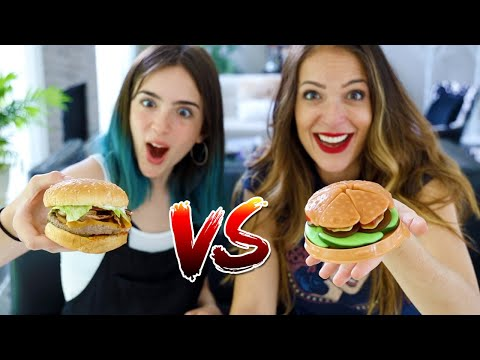 GUMMY FOOD Vs REAL FOOD!! - Ladies Edition