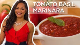 Tomato Basil Marinara Sauce | Made To Order | Chef Zee Cooks
