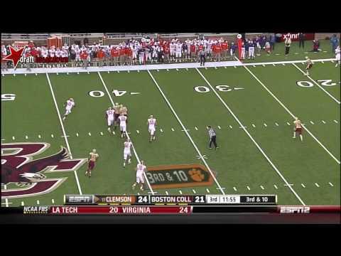Tajh Boyd vs Boston College 2012 video.
