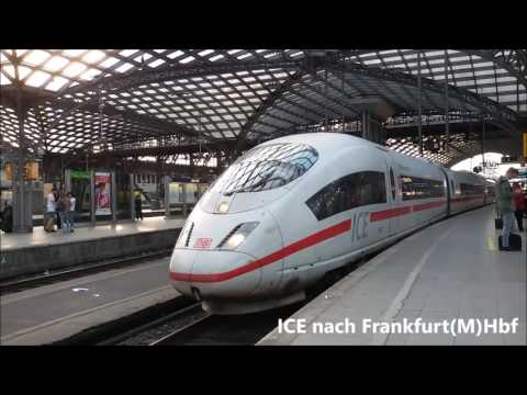 Züge in Köln Hbf(Teil 2) mit Velaro D - ET420 - BR1 ...