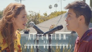 Video Attention vs. Sorry Not Sorry (Charlie Puth/Demi Lovato MASHUP) - Sam Tsui & Alyson Stoner download in MP3, 3GP, MP4, WEBM, AVI, FLV January 2017