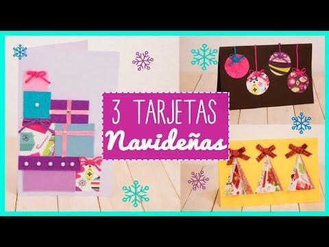 Ideas pata hacer tarjetas de Navidad o Christmas Manualidades
