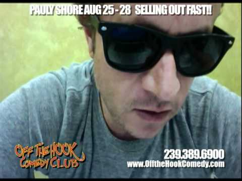 Pauly Shore Arrives @ Off the Hook Comedy Club & Capt. Brien's