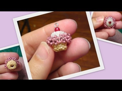 Beaded Cupcake 3D Beading Tutorial By HoneyBeads1 (Photo Tutorial)