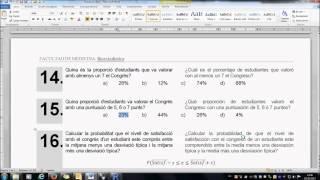 Umh2072 2013-14 Descripción De Datos Y Distribuciones. Práctica 1. Cuestiones De 13 A 17