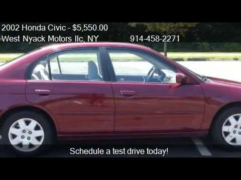 2002 honda civic ex sedan - West Nyack Motors llc 309 N. Main Street in Spring Valley, NY 10977 Come test drive this 2002 Honda Civic EX sedan for sale in Spring Valley, NY. http://www....