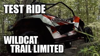 1. TEST RIDE: 2015 Arctic Cat Wildcat Trail Limited