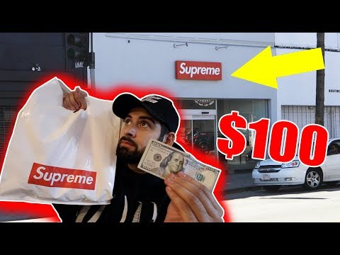 THE $100 SUPREME STORE CHALLENGE!! (What Will $100 Buy You?)