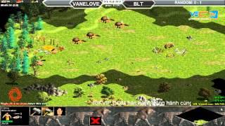 Solo Vanelove vs Bất Liễu Tình T2 Ngày 01/09/2015, game đế chế, clip aoe, chim sẻ đi nắng, aoe 2015