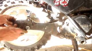 8. how to remove the rear wheel on yamaha pw50