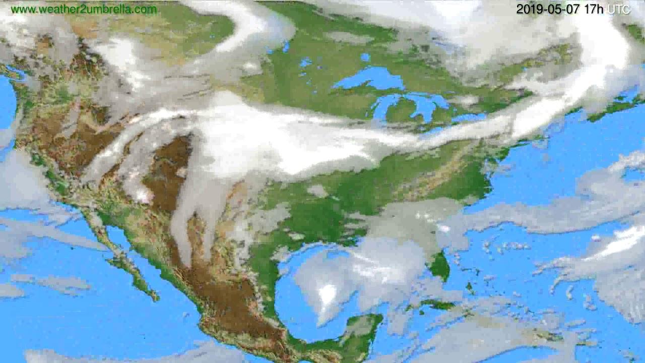 Cloud forecast USA & Canada // modelrun: 00h UTC 2019-05-06