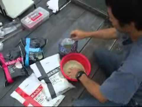 Fishingmax上野芝店    ダイワの新製品ヘラエサの試釣