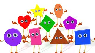 Learn Shapes Song | Colors, Vehicles, Fruits, Vegetables and Shapes Songs & Rhymes for Children