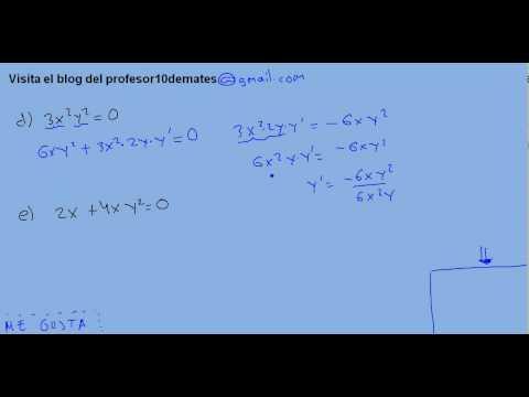 Ejercicios resueltos de derivadas parciales