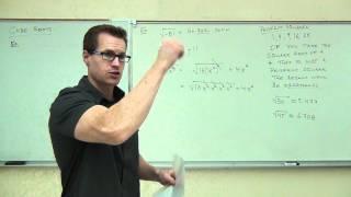 Intermediate Algebra Lecture 10.1