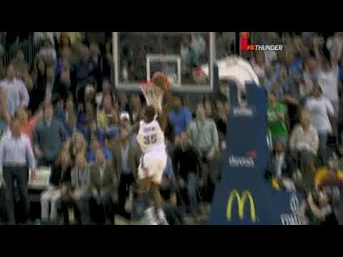 Kevin Durant steals and dunks - Magic vs. Thunder